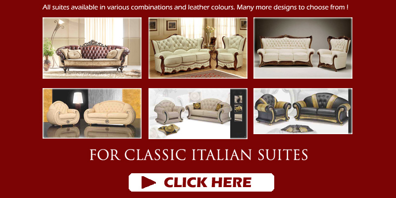 Italian Leather Sofas and Fabric Suites for sale UK | Manufacturers ...