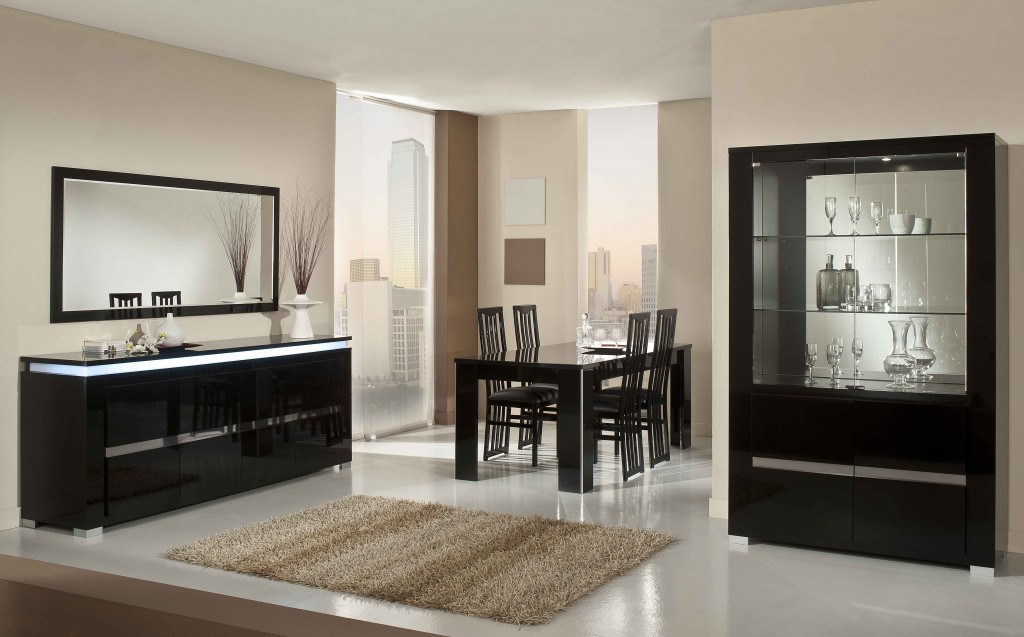 2-Elegante-black-dining-room- ...