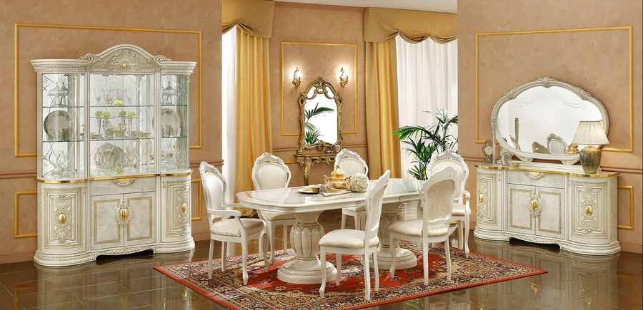 Leonardo Italian Dining Room Furniture Set