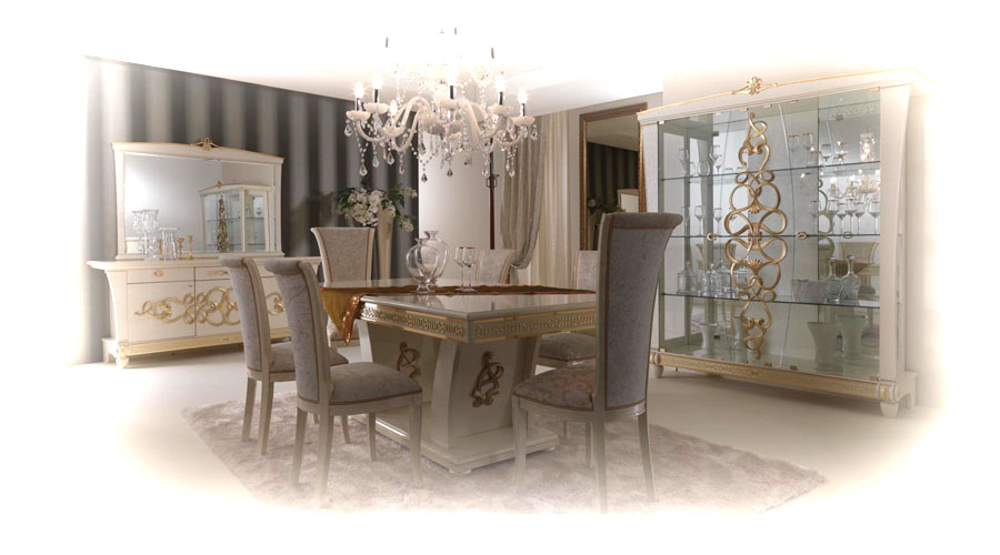 New italian klassica dining room furniture and set em italia for Dining room furniture uk
