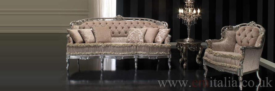 gilded italian sofas and furniture em italia