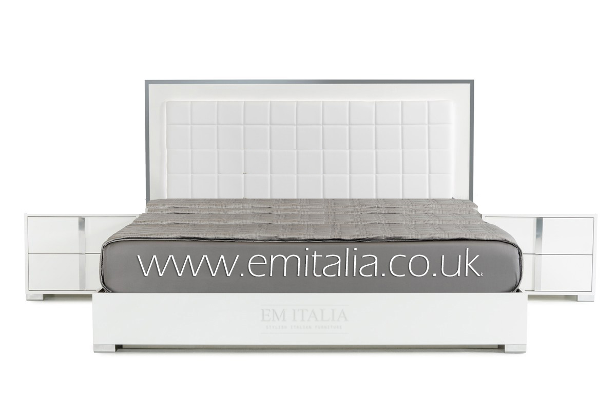 Elite-white-high-gloss-Bed-Set