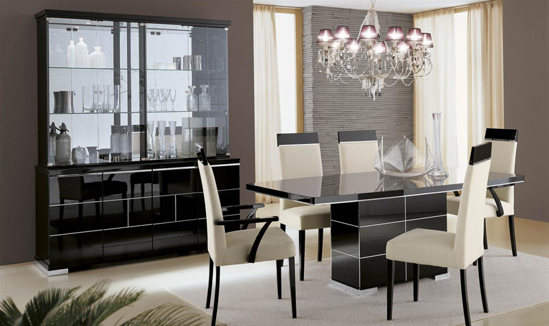 the savina high gloss dining furniture set including italian dining