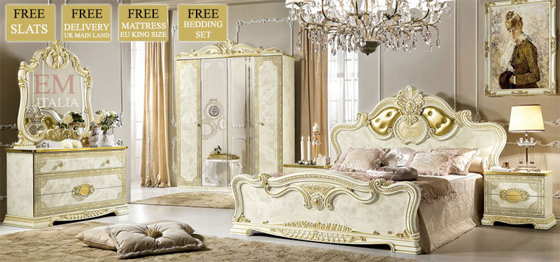 leonardo italian bedroom set. Leonardo classic italian bedroom furniture set   EM Italia