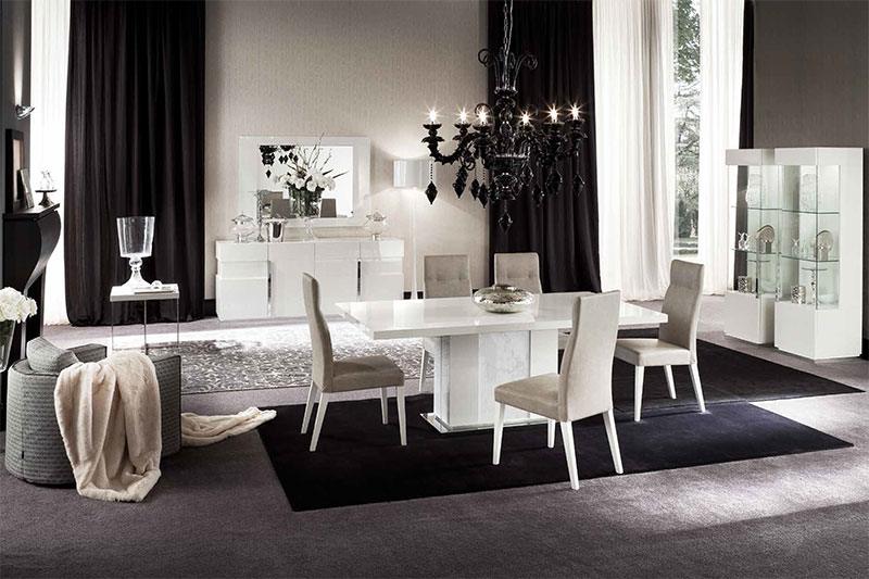 White High Gloss Dining Table And Chairs