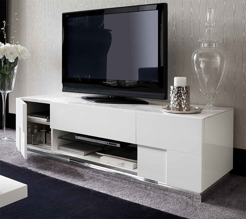 Sienna White White High Gloss Furniture Dining Room  : white high gloss tv unit from emitalia.co.uk size 800 x 711 jpeg 107kB