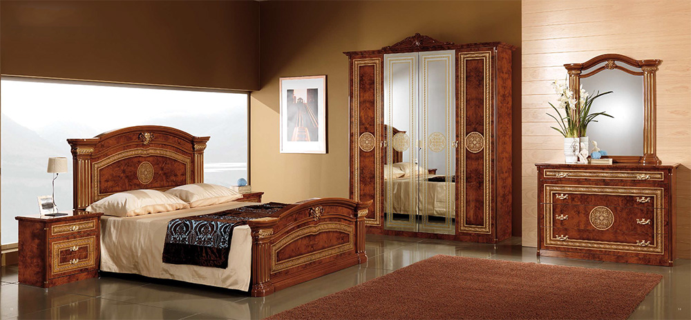 alex classic italian bedroom set walnut italian bedroom