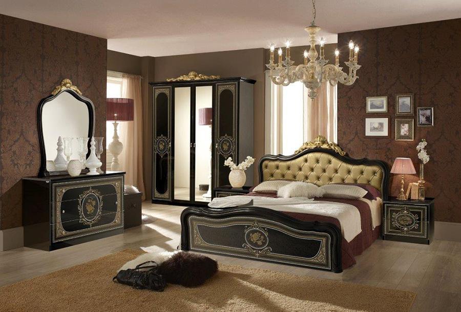 Lisa-Black-Italian-Bedroom-Furniture-Set-Upholstered-Headbord