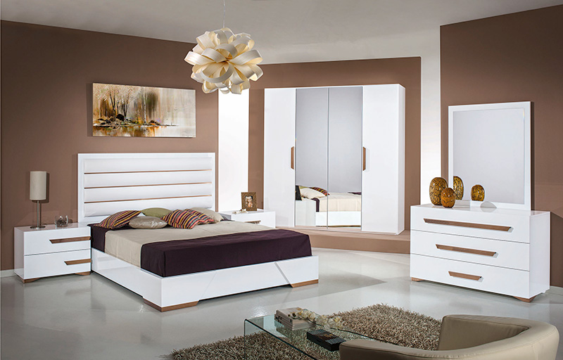 White gloss bedroom high gloss bedroom furniture set for White gloss bedroom furniture