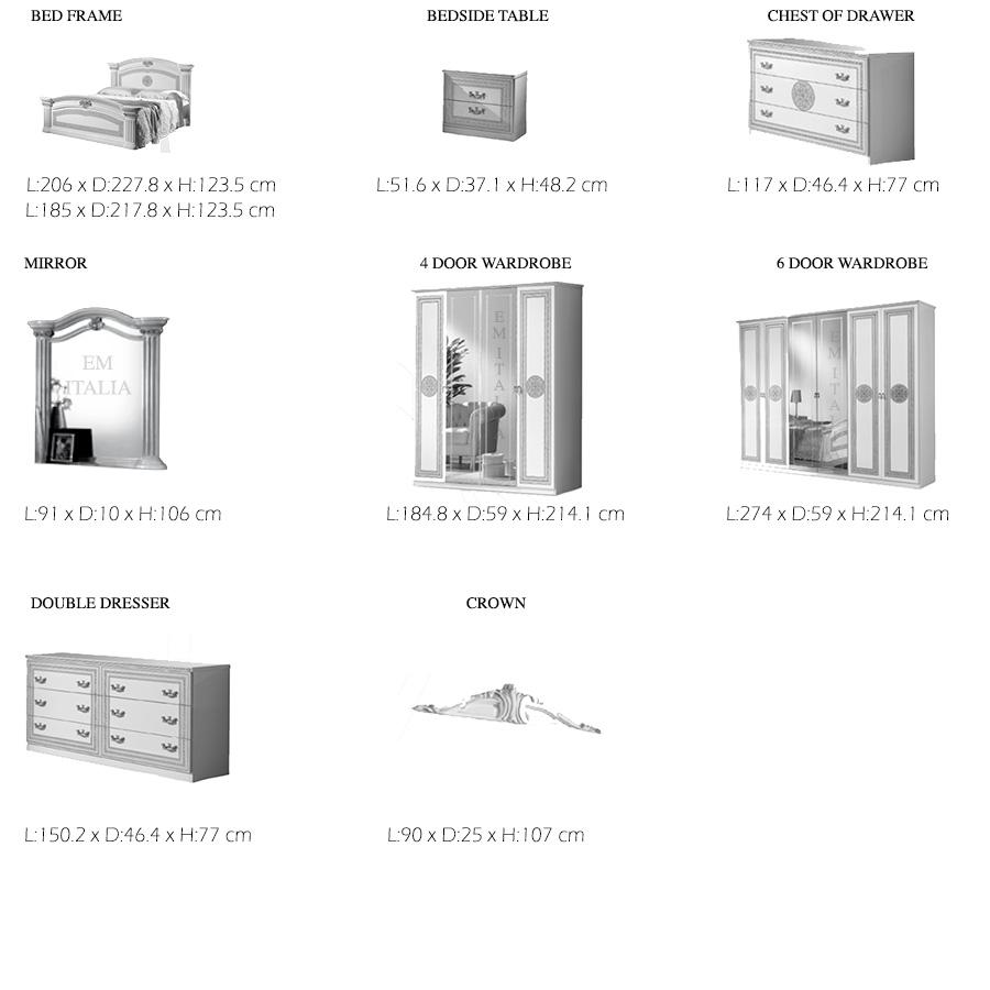 Alex-White-Silver-Classic-Italian-bedroom-furniture-items