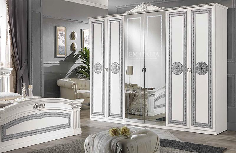 Classic-Italian-Wardrobe-White-Silver