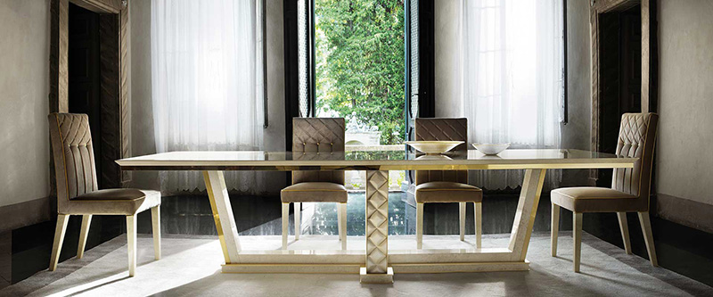 Classic Italian Art Deco Dining Table And Chairs