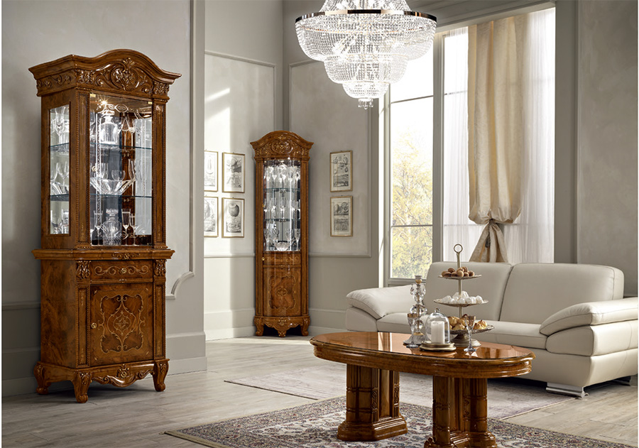 Versailles Classic Italian Furniture Dining Room Living Room Ivory Walnut Em Italia