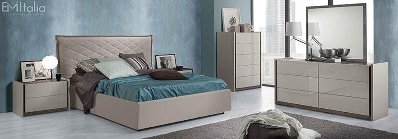 Velor High Gloss Grey Bedroom Furniture, Modern White Gloss Bedroom Furniture Uk