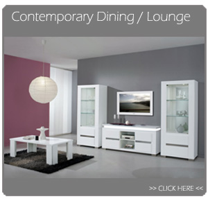 Contemporary Italian dining room and lounge furniture