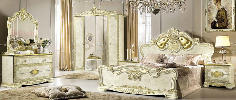 Leonardo Classic Italian Bedroom Furniture Set Em Italia
